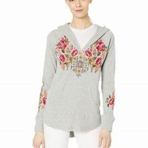 Johnny Was Axton Thermal Hoodie Embroidered Top